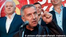 Montenegro Wahlen - Premierminister Milo Djukanovic (picture-alliance/AP Photo/D. Vojinovic)