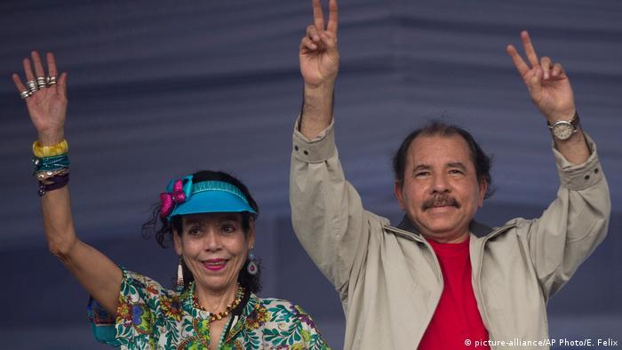 Nicaraguan President Daniel Ortega, Vice President Rosario Murillo