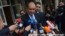 Bulgarien erste Runde Präsidentschaftswahl Rumen Radew