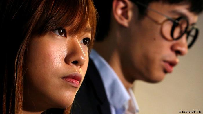 Hongkong Abgeordnete Baggio Leung & Yau Wai Ching (Reuters/B. Yip)