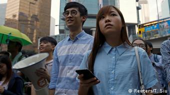 Hongkong Abgeordnete Baggio Leung & Yau Wai Ching (Reuters/T. Siu)
