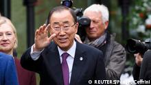 07.11.2016+++U.N. Secretary-General Ban Ki-moon attends the Cyprus reunification talks in the Swiss mountain resort of Mont Pelerin, Switzerland November 7, 2016. REUTERS/Fabrice Coffrini/Pool