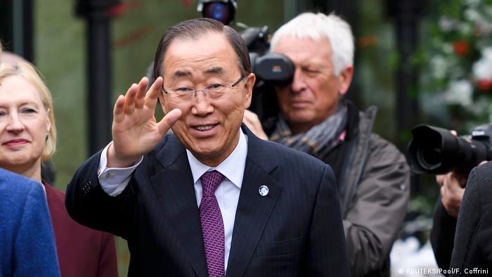 Schweiz UN-General-Sekretär Ban Ki-moon kommt in Mont Pelerin an