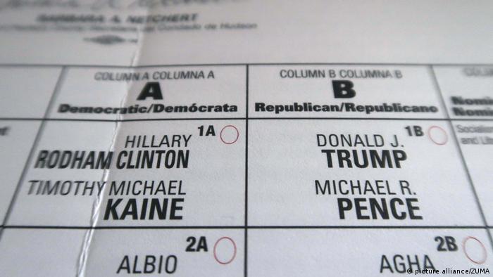 USA Briefwahlzettel Präsidentschaftswahlen (picture alliance/ZUMA)