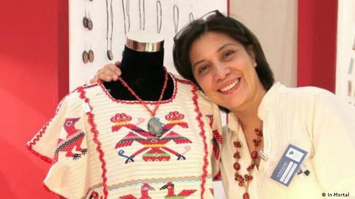 La diseñadora de modas mexicana Lourdes Rivadeneyra.