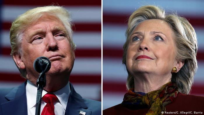 Bildkombo Donald Trump und Hillary Clinton