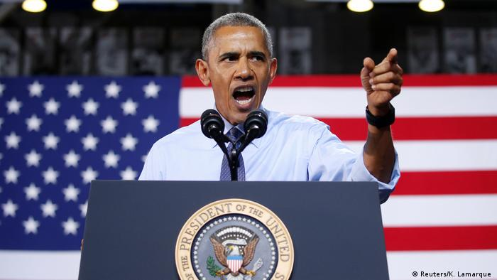 USA Wahlkampf Barack Obama für Hillary Clinton (Reuters/K. Lamarque )