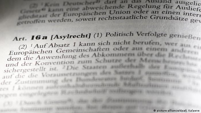 Article 16a of Germany's constitution