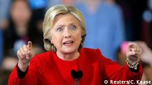 North Carolina Hillary Clinton Wahlkampf Rede