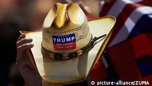 USA Wahlkampf Cowboy Hut Make America great again