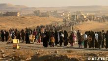 Irak Kampf um Mossul gegen den IS - Flüchtlinge aus Hammam al-Alil