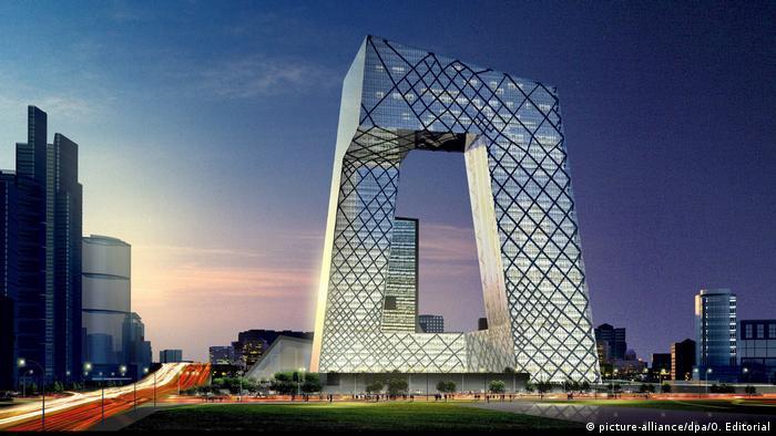 Deutscher Architekt baut das größte Fernsehgebäude der Welt (picture-alliance/dpa/O. Editorial)