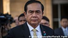 +++Nur im Rahmen der Berichterstattung zu verwenden!+++ 10.10.2016+++Prime Minister Prayut Chan-o-Cha arrive at the Ministry of Foreign Affairs before the ceremony to open the 2nd Asia Cooperation Dialogue (ACD) Summit 2016 in the Vithes Samosorn Hall at the Ministry of Foreign Affairs in Bangkok, Thailand on October 10, 2016. (Photo by Guillaume Payen/NurPhoto)   Keine Weitergabe an Wiederverkäufer.
