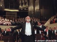 Com a 'Nona' de Beethoven Masur encerrou em 1996 26 anos à frente da Gewandhaus