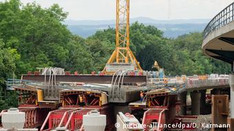 Строительства моста на автобане в Баварии близ Бамберга