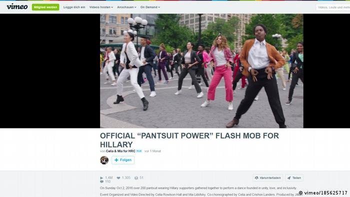 Флешмоб Сила брючного костюма на підтримку Клінтон