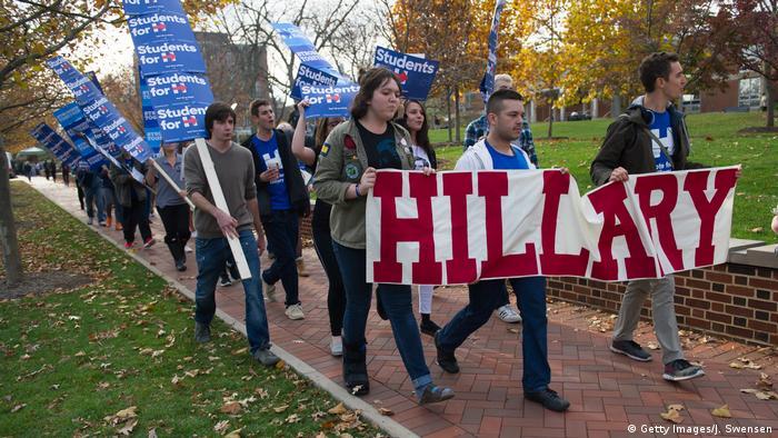 USA Präsidentschaftswahl Unterstützer von Hillary Clinton (Getty Images/J. Swensen)