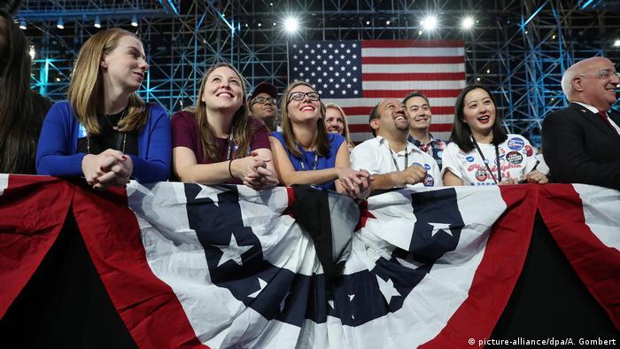 USA Präsidentschaftswahl Wahlparty der Demokraten in New York (picture-alliance/dpa/A. Gombert)