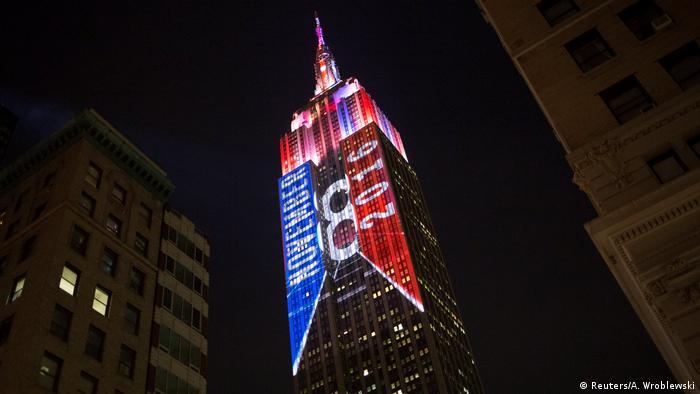 USA Präsidentschaftswahl Empire State Building in New York