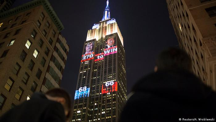 USA Präsidentschaftswahl Empire State Building in New York (Reuters/A. Wroblewski)