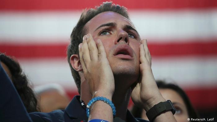 USA Präsidentschaftswahl Wahlparty der Demokraten in New York (Reuters/A. Latif )