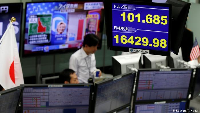 Japan Reaktion Börse auf US-Präsidentschaftswahl 2016 (Reuters/T. Hanai)