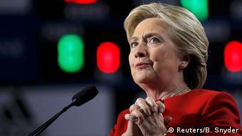 USA Wahlkampf Demokraten Hillary Clinton in Allendale, Michigan