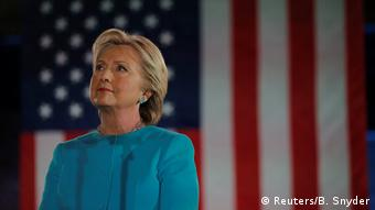 USA Wahlkampf Demokraten Hillary Clinton in Manchester, New Hampshire (Reuters/B. Snyder)