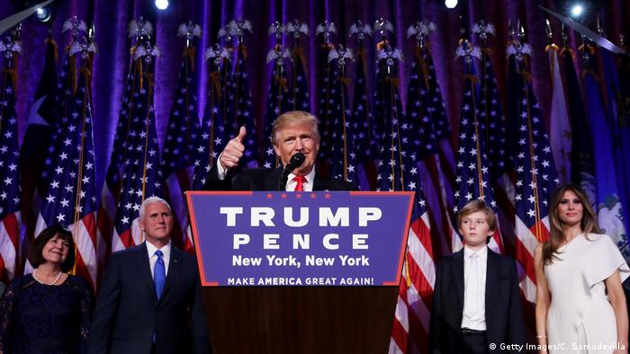 US-Präsidentschaftswahl 2016 - Sieg & Rede Donald Trump (Getty Images/C. Somodevilla)