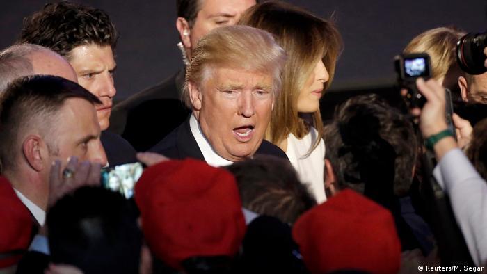 US-Präsidentschaftswahl 2016 - Sieg Donald Trump