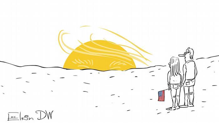 Russland Karikatur Elkin