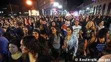 USA Oakland Anti-Trump Protest Wahlnacht