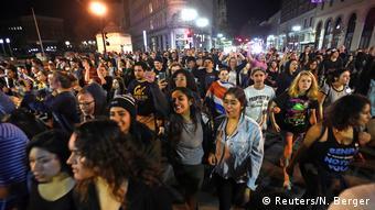 USA Oakland Anti-Trump Protest Wahlnacht