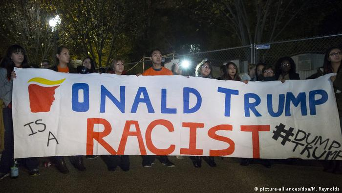 USA Washington Anti-Trump Protest Wahlnacht (picture-alliances/dpa/M. Reynolds)