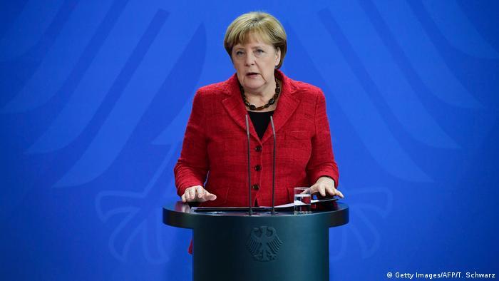 Deutschland Reaktion US-Wahl - Bundeskanzlerin Angela Merkel