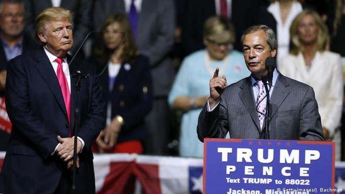 USA Wahlkampf Republikaner Donald Trump & Nigel Farage (Getty Images/J. Bachman)