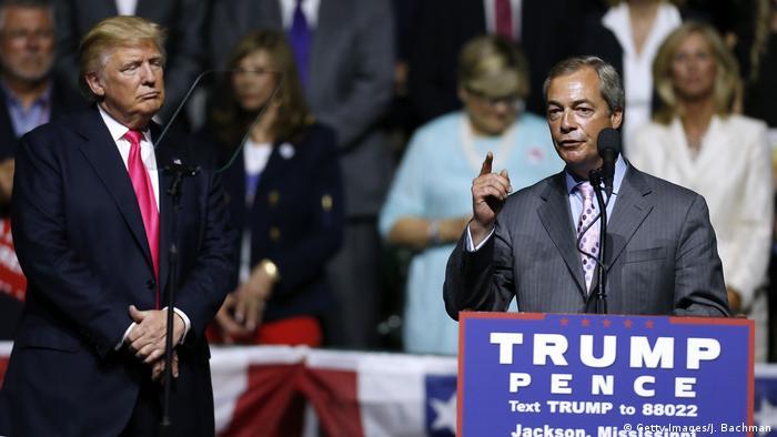 USA Wahlkampf Republikaner Donald Trump & Nigel Farage