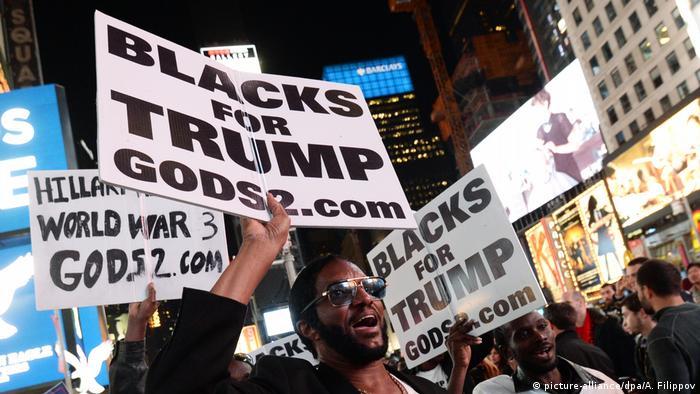 Чернокожие сторонники Трампа в Ньй-Йорке