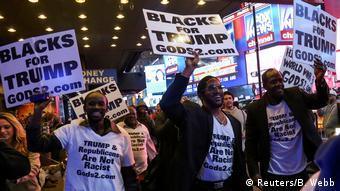 US-Präsidentschaftswahl 2016 - Anhänger Donald Trump - Blacks for Trump (Reuters/B. Webb)