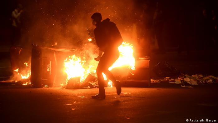 US-Präsidentschaftswahl 2016 - Proteste und Ausschreitungen in Oakland, Kalifornien (Reuters/N. Berger)