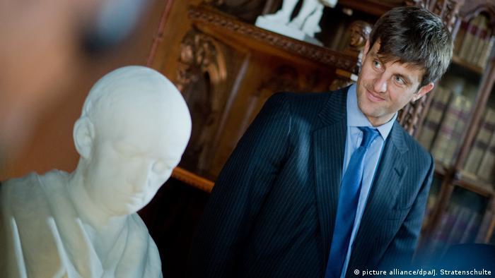 Ernesto Augusto de Hannover hijo, durante la inauguración de la exposición '1716, el último año de la vida de Leibniz', en septiembre de 2016.