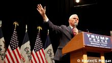 US Wahl Mike Pence Vizepräsident in Newton