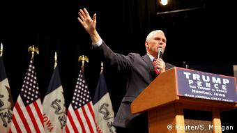 US Wahl Mike Pence Vizepräsident in Newton (Reuter/S. Morgan)
