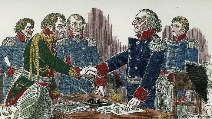 Таурогенская конвенция. Рисунок 1880 года