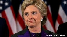 09.11.2016**** Hillary Clinton addresses her staff and supporters about the results of the U.S. election at a hotel in the Manhattan borough of New York, U.S., November 9, 2016. REUTERS/Carlos Barria TPX IMAGES OF THE DAY