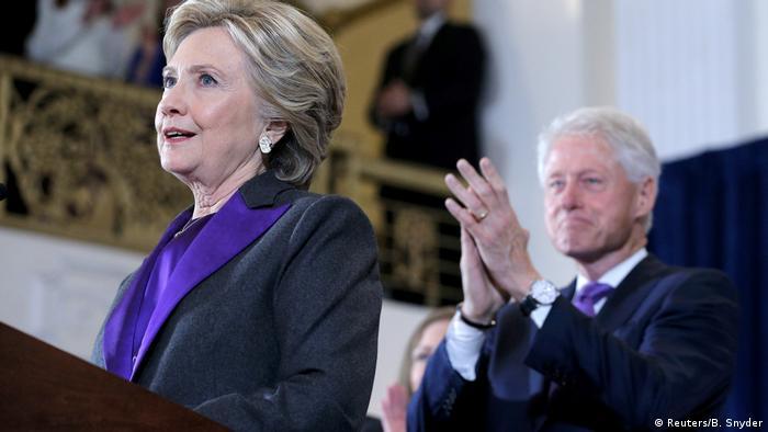 USA Hillary Clinton Rede nach Wahlniederlage (Reuters/B. Snyder)