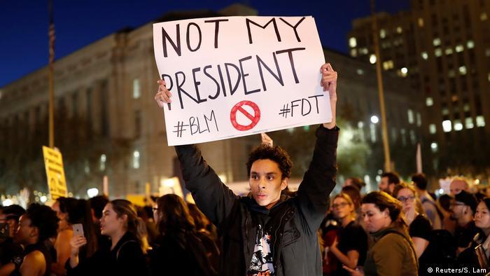 USA Präsidentschaftswahl Protest gegen Donald Trump (Reuters/S. Lam)