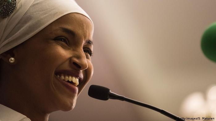 Ilhan Omar, de Minnesota, llegó a Estado Unidos como una niña refugiada somalí. (Getty Images/S. Maturen)