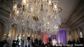USA Donald Trump PK in seiner Villa Mar-A-Lago in Palm Beach (Getty Images/J. Raedle)