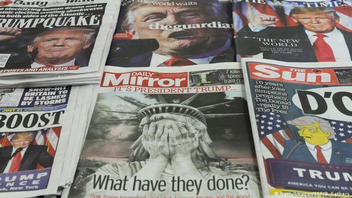 USA Wahlen Reaktionen Medien Zeitungen (Getty Images/AFP/B. Fathers)